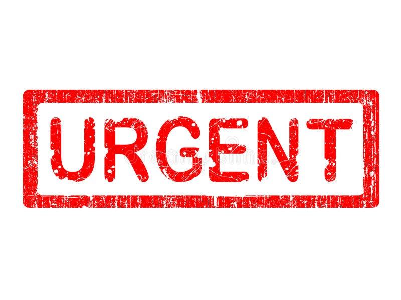 grunge紧急办公室的印花税 向量例证