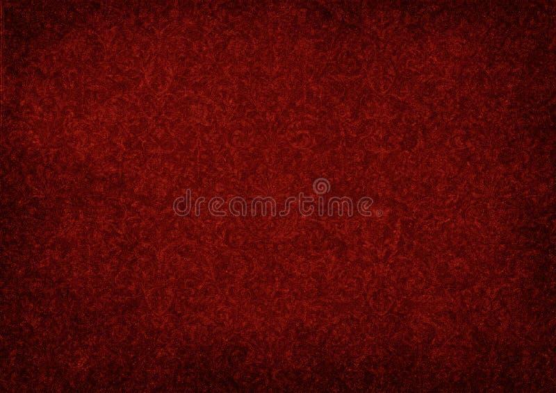 Grunge红色背景 皇族释放例证
