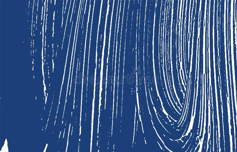 Grunge纹理 困厄靛蓝概略的踪影 擅长 库存例证