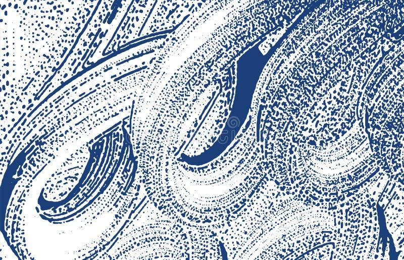 Grunge纹理 困厄靛蓝概略的踪影 欲死欲仙的背景 噪声肮脏的难看的东西纹理 现代 库存例证
