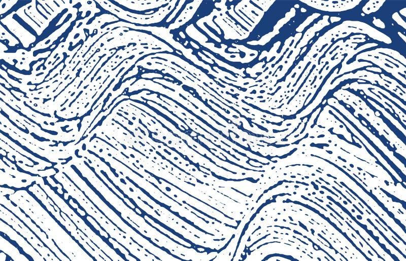 Grunge纹理 困厄靛蓝概略的踪影 精美的背景 噪声肮脏的难看的东西纹理 相当 库存例证