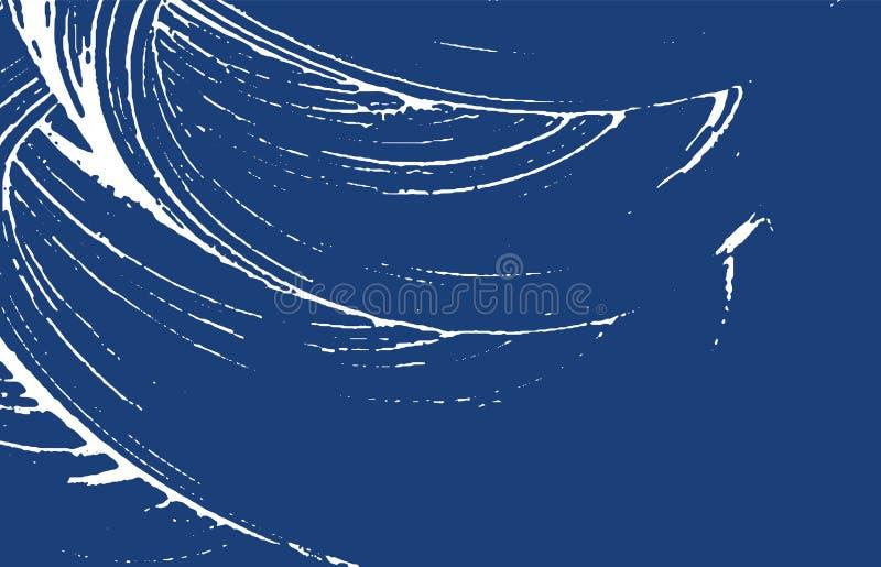 Grunge纹理 困厄靛蓝概略的踪影 非常好的背景 噪声肮脏的难看的东西纹理 方大集团 向量例证