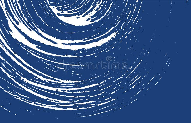 Grunge纹理 困厄靛蓝概略的踪影 非常好的背景 噪声肮脏的难看的东西纹理 Indel 皇族释放例证