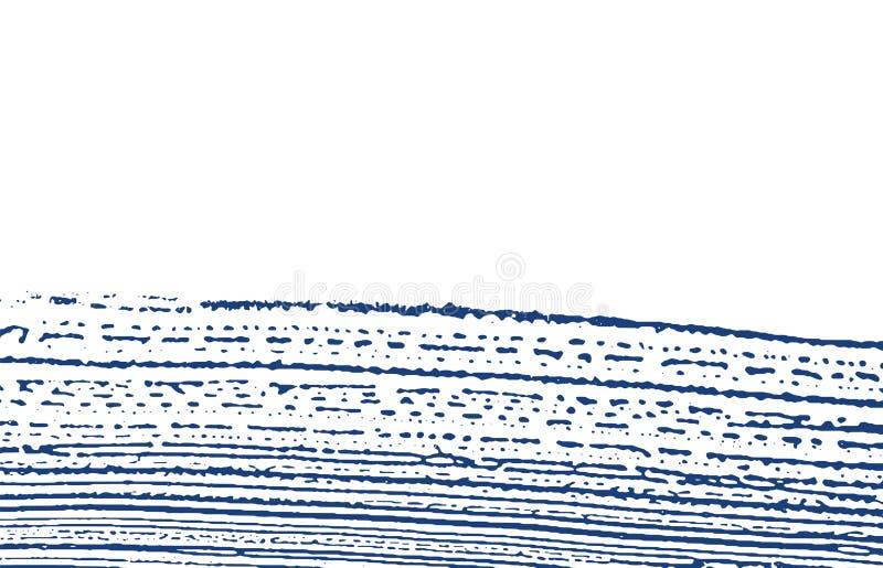 Grunge纹理 困厄靛蓝概略的踪影 Divin 库存例证