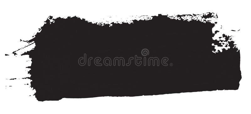 Grunge纹理 在白色的黑刷子 边界月桂树离开橡木丝带模板向量 都市的背景 皇族释放例证