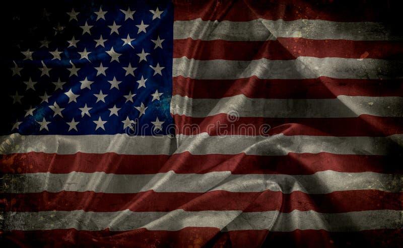 Grunge美国国旗 皇族释放例证