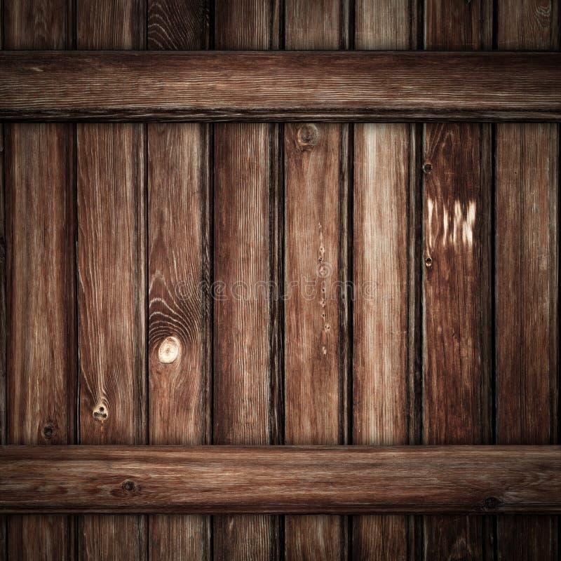 Grunge老木板条背景 免版税图库摄影