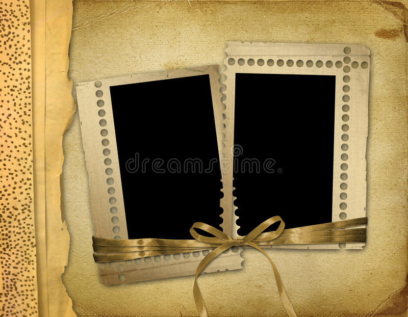 grunge老photoalbum照片 皇族释放例证