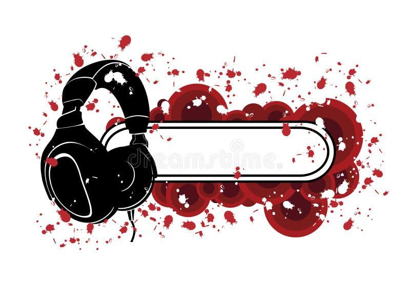 Grunge耳机模式 免版税库存照片