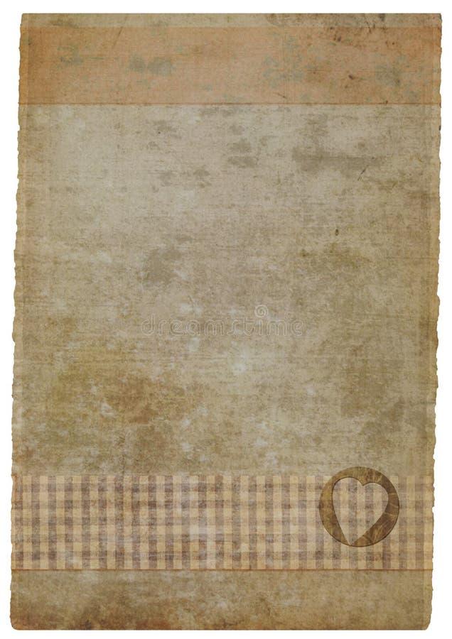 grunge被弄脏的手工纸部分 向量例证