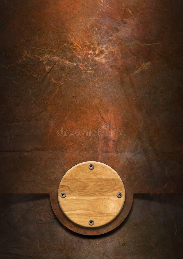 Grunge金属背景 皇族释放例证