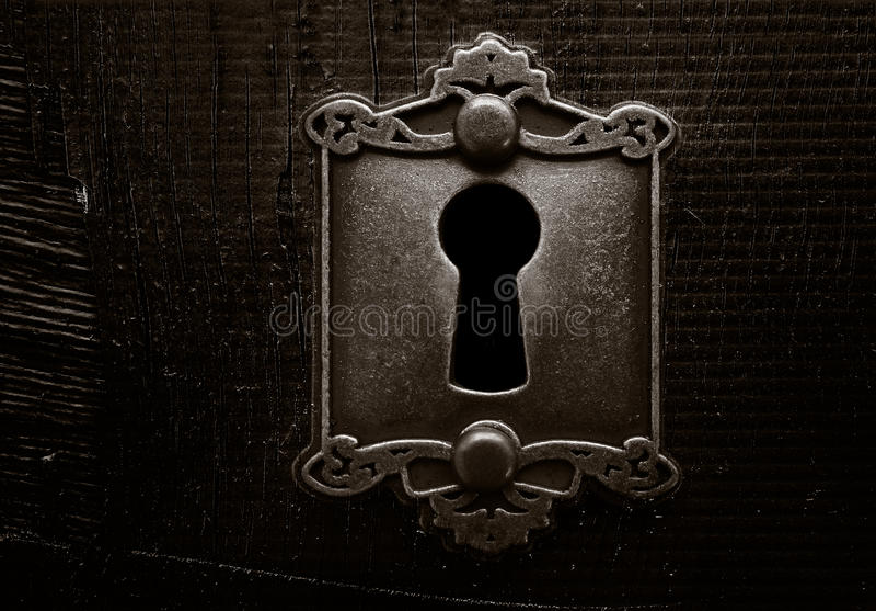 Grunge门锁 免版税库存图片