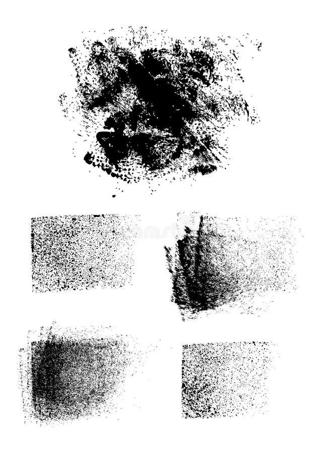 grunge集合纹理 库存例证