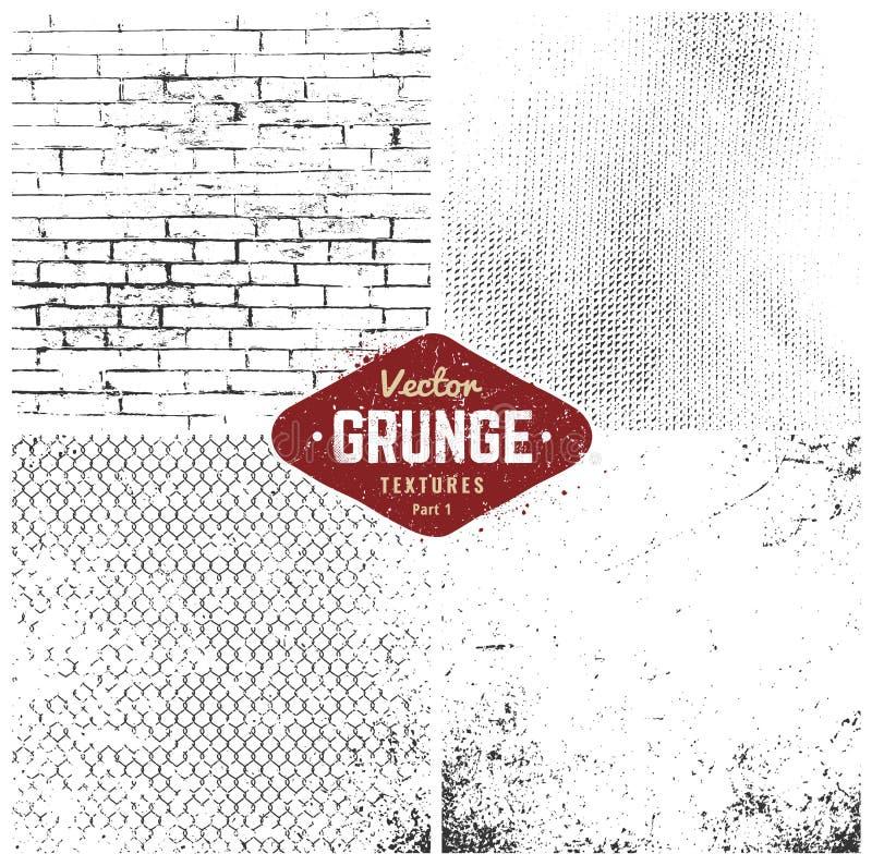 grunge集合纹理 皇族释放例证