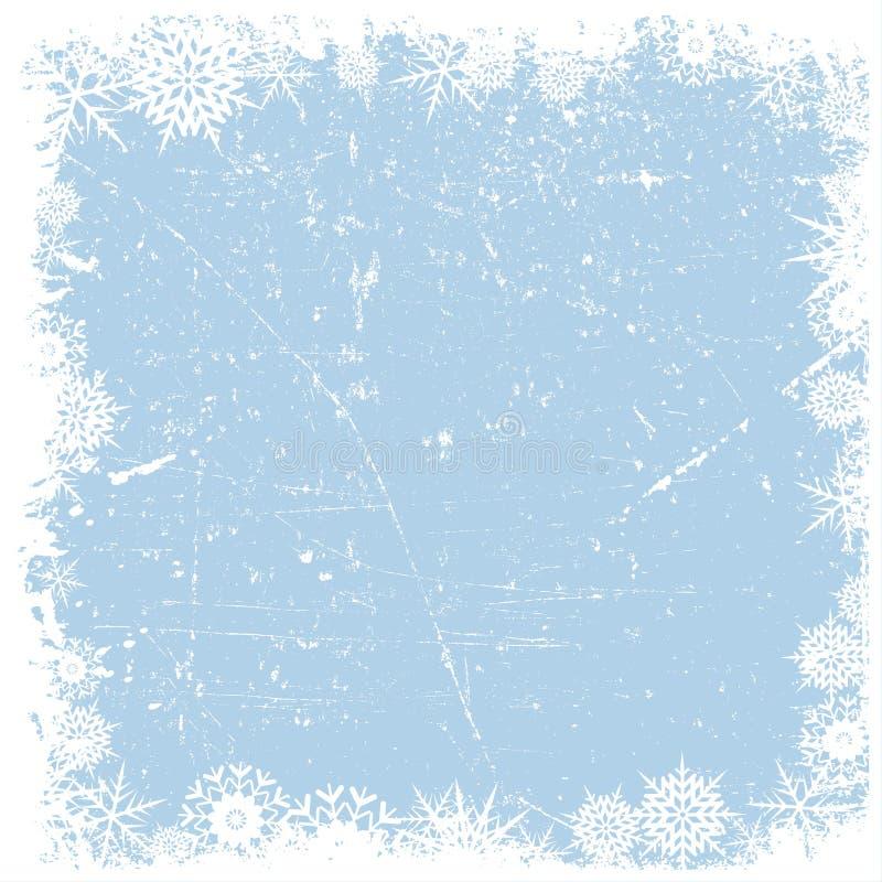Grunge雪花圣诞节背景 向量例证
