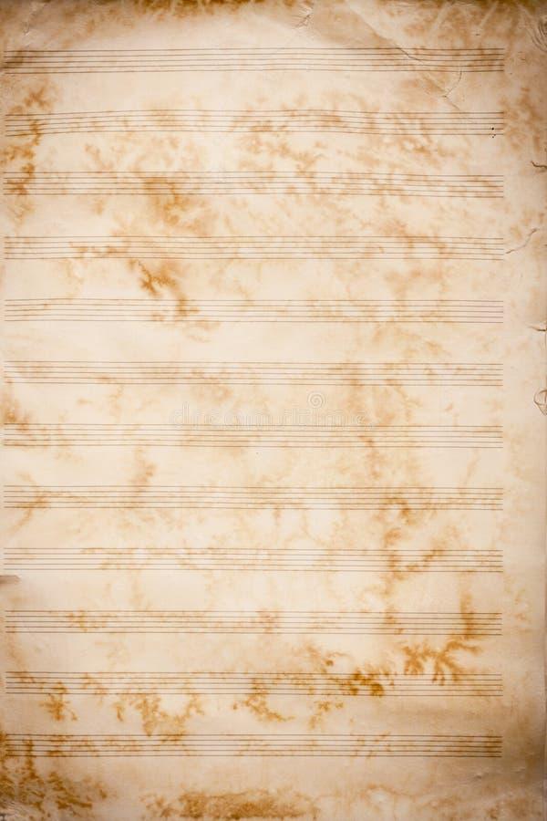 grunge音乐老页纹理 免版税库存图片