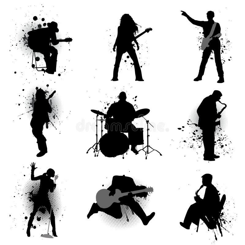 grunge音乐 皇族释放例证
