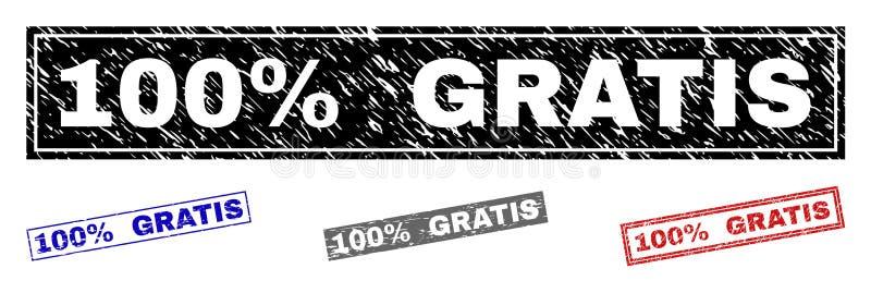Grunge 100 процентов БЕСПЛАТНО текстурировал печати прямоугольника бесплатная иллюстрация