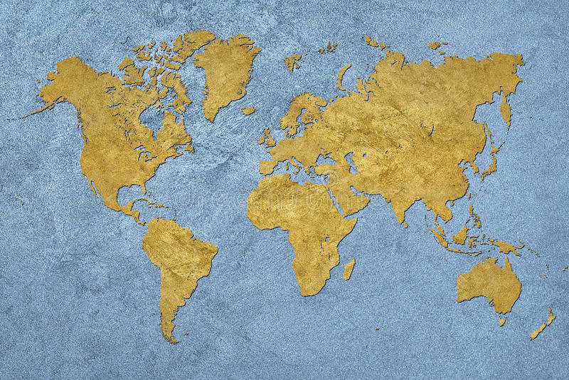 Grunge översikt av världen tappning för stil för illustrationlilja röd royaltyfria foton