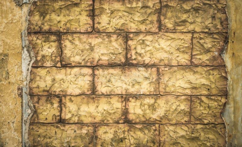 Grunge ściana z cegieł, wysoce szczegółowy textured tło fotografia royalty free