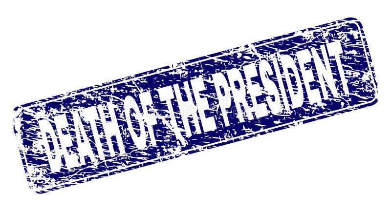 Grunge śmierć prezydent Obramiający Zaokrąglający prostokąta znaczek ilustracja wektor