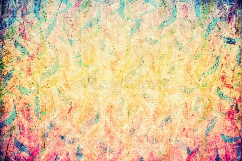 Grunge żółtej cyfrowej sztuki abstrakcjonistyczny sztandar, szablonu backgrou zdjęcie royalty free