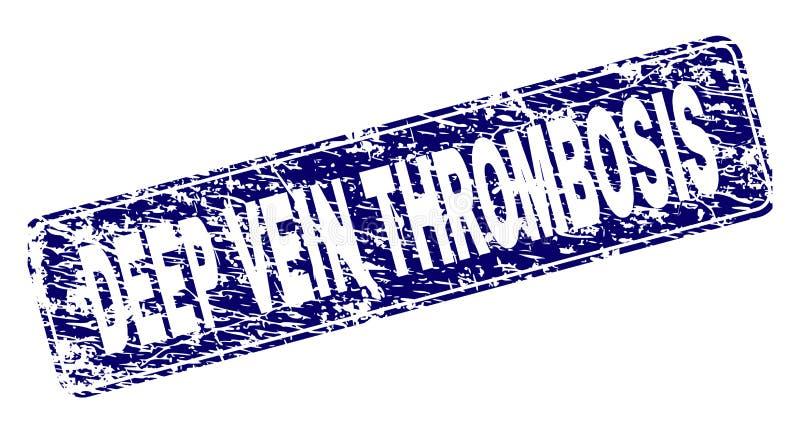 Grunge żyły prostokąta GŁĘBOKI zakrzepica Obramiający Zaokrąglający znaczek royalty ilustracja