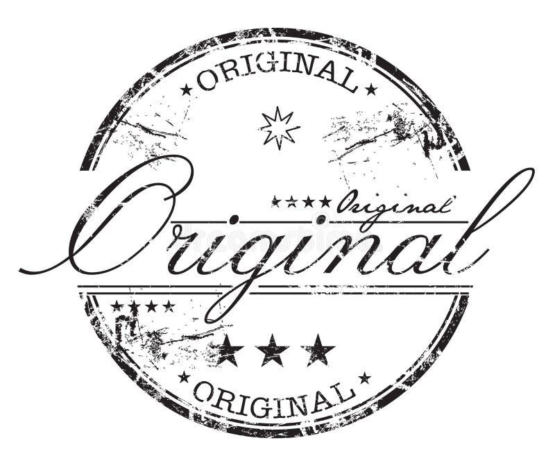 grunge αρχικό γραμματόσημο διανυσματική απεικόνιση