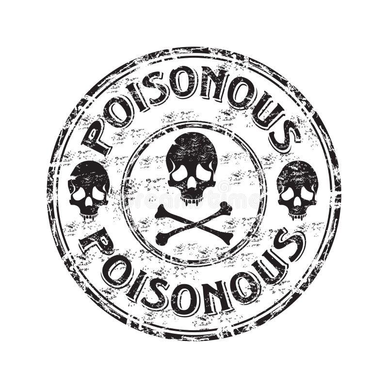 grunge δηλητηριώδης σφραγίδα διανυσματική απεικόνιση