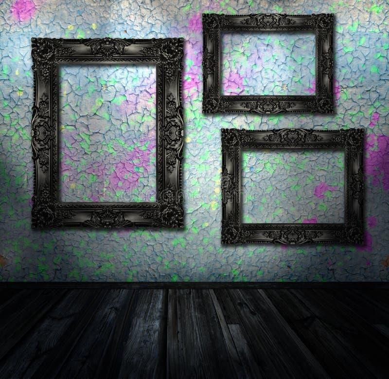 grunge εσωτερικό δωμάτιο διανυσματική απεικόνιση