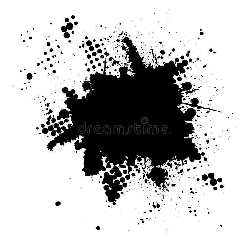 grunge ημίτονο μελάνι splat διανυσματική απεικόνιση