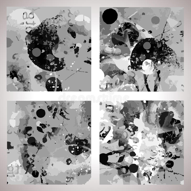 grunge θέστε το διάνυσμα συστά&si διανυσματική απεικόνιση