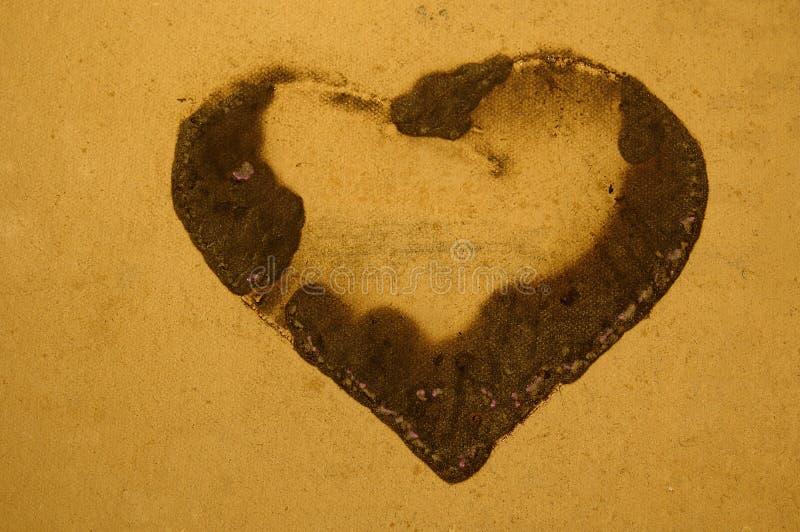 Grunge καρδιά Στοκ Εικόνες