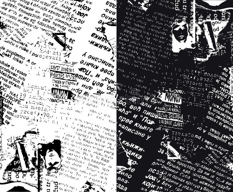 grunge κατά το ήμισυ εφημερίδα ελεύθερη απεικόνιση δικαιώματος