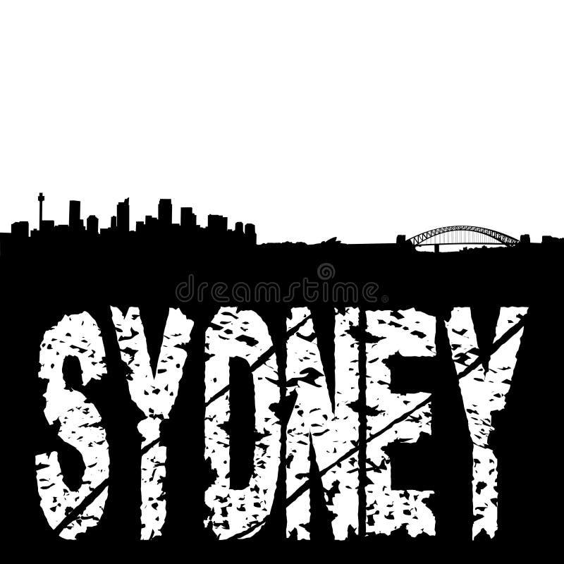grunge κείμενο του Σύδνεϋ ορι&zeta απεικόνιση αποθεμάτων