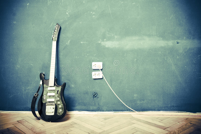 grunge κιθάρα στοκ εικόνες