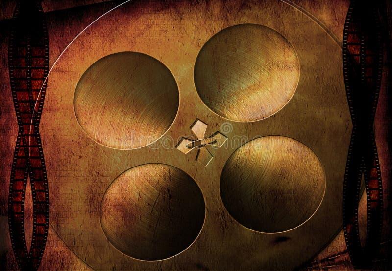 grunge κινηματογράφος πραγματ& διανυσματική απεικόνιση