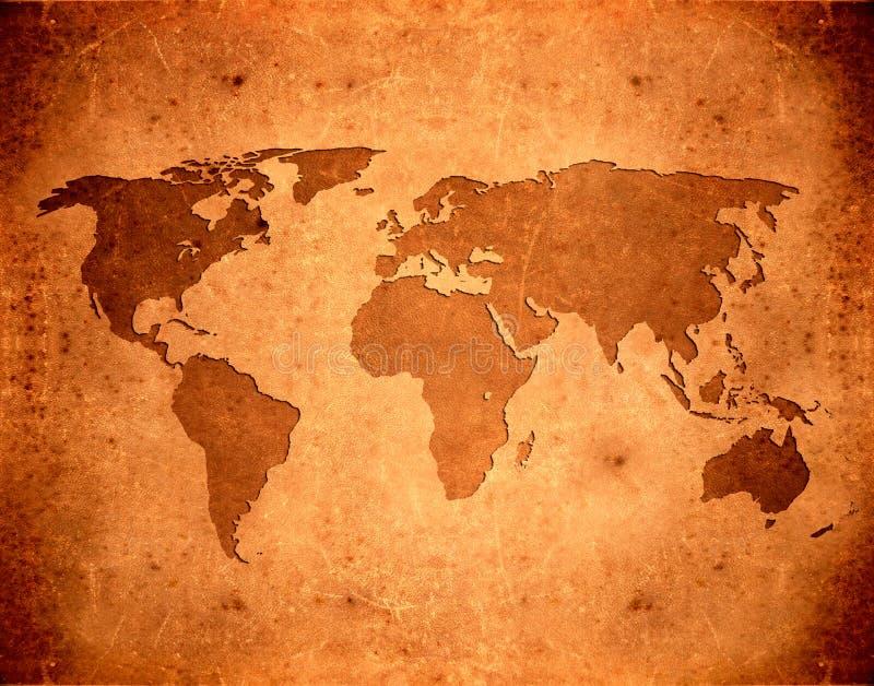 grunge κόσμος χαρτών απεικόνιση αποθεμάτων