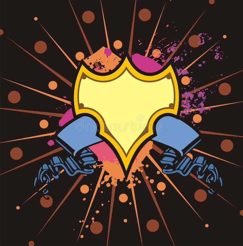 Download Grunge οι σειρές προστατεύου Διανυσματική απεικόνιση - εικονογραφία από διακριτικά, έμβλημα: 2231822