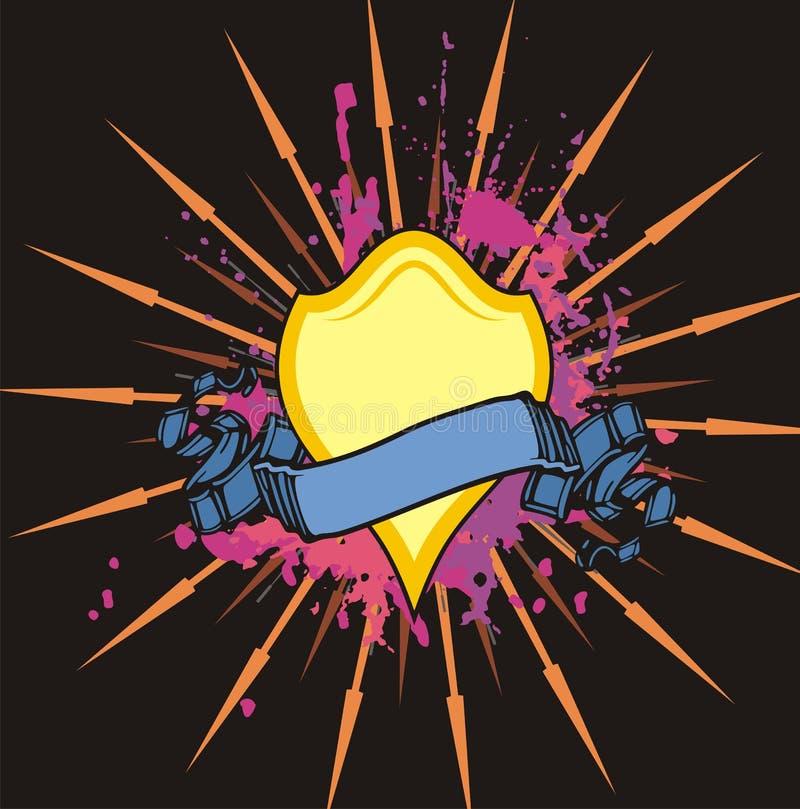 Download Grunge οι σειρές προστατεύου Διανυσματική απεικόνιση - εικονογραφία από ιππότης, έμβλημα: 2231839