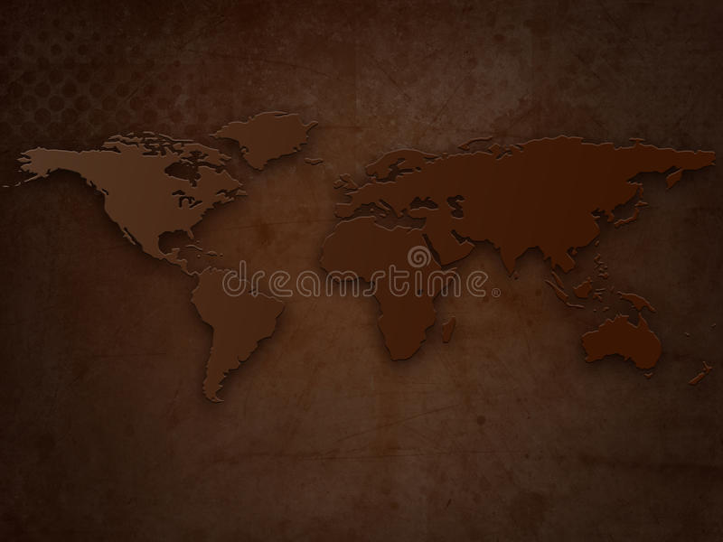 grunge Παλαιός Κόσμος χαρτών ελεύθερη απεικόνιση δικαιώματος