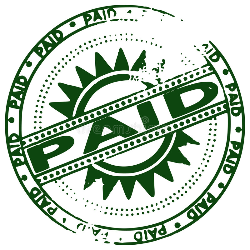grunge πληρωμένο γραμματόσημο ελεύθερη απεικόνιση δικαιώματος