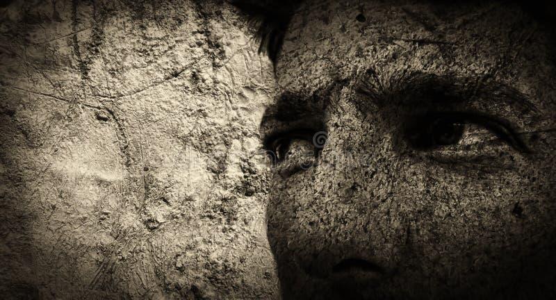 grunge πορτρέτο διανυσματική απεικόνιση