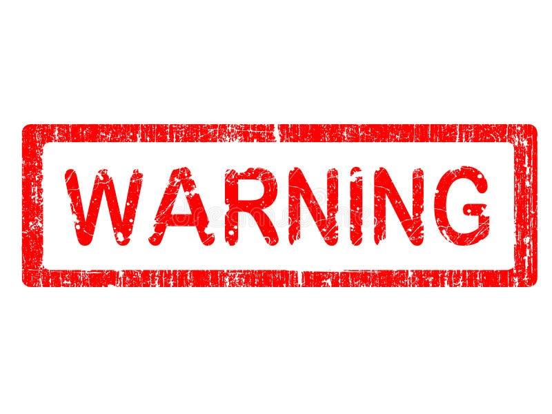 grunge προειδοποίηση γραμματ&om διανυσματική απεικόνιση
