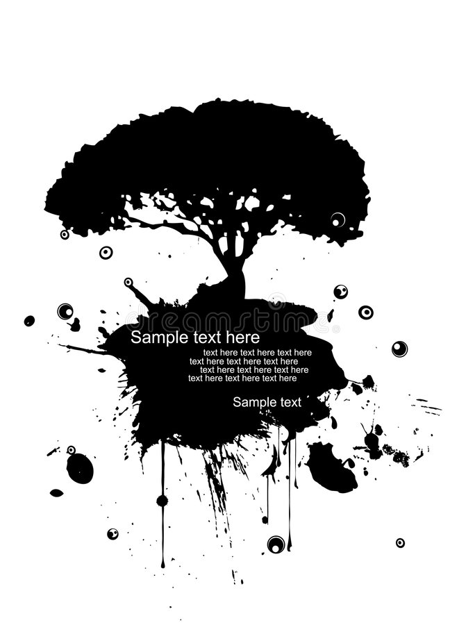grunge σύγχρονο διάνυσμα φύσης &a ελεύθερη απεικόνιση δικαιώματος