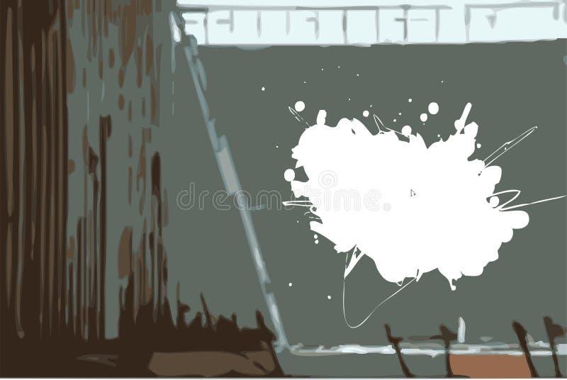 grunge χρώμα splat ελεύθερη απεικόνιση δικαιώματος