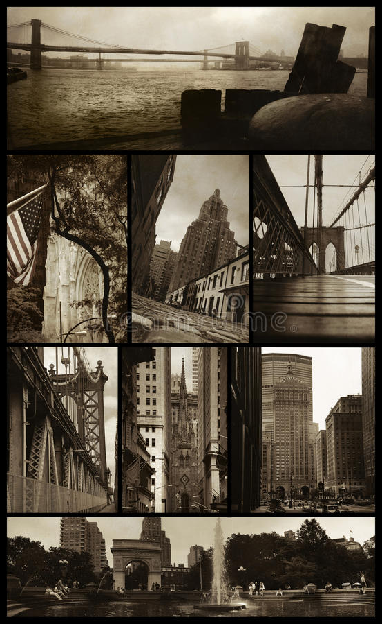 grunge όψεις του Μανχάτταν στοκ φωτογραφίες