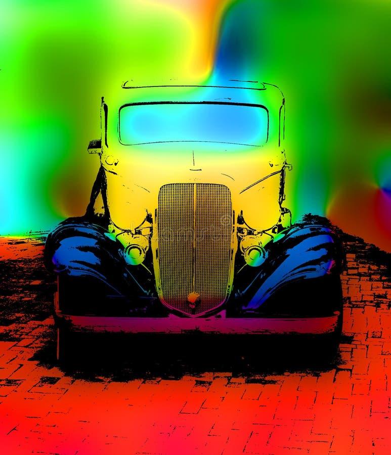 grunge автомобиля старое иллюстрация штока
