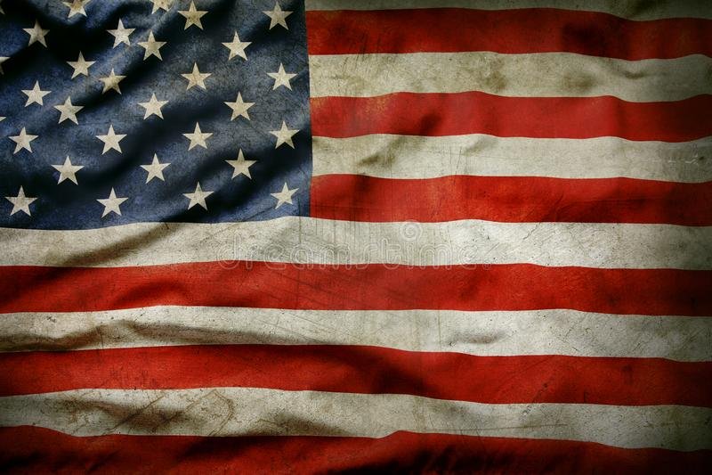 grunge американского флага стоковое изображение rf