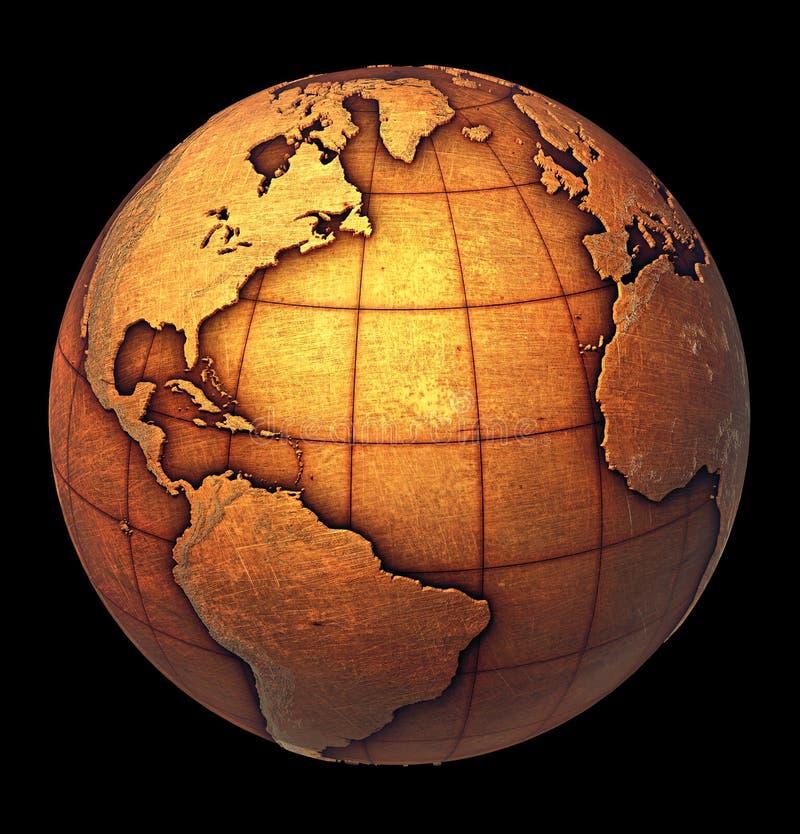 grunge глобуса земли стоковое изображение rf